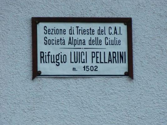 Schutzhütte Rifugio Luigi Pellarini auf 1502 m
