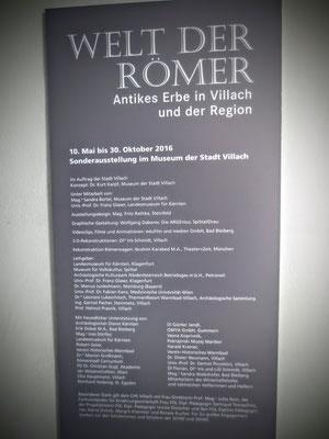 """Sehenswerte Sonderausstellung """"Die Welt der Römer"""" im Villacher Stadtmuseum"""