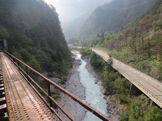 Civlovia / Alpe Adria Radweg ehemalige Eisenbahnbrücke Ponto di Muro