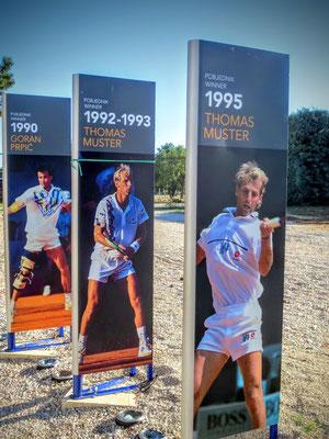 vergangene Tennishelden...
