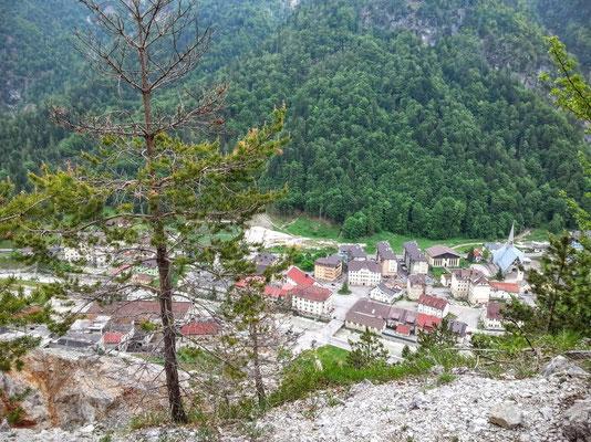 Blick auf den ehemaligen Bergwerksort Rabl