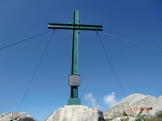 Gipfelkreuz am Cellon (Frischenkofel)