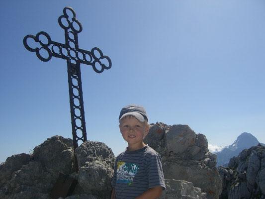 Am Gipfel des Steinerner Jäger (Cima del Cacciatore) 2.071m