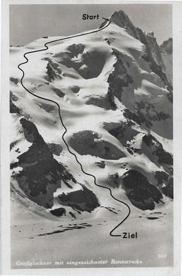 In den 1940er Jahren fanden am Großglockner internationale Skirennen statt