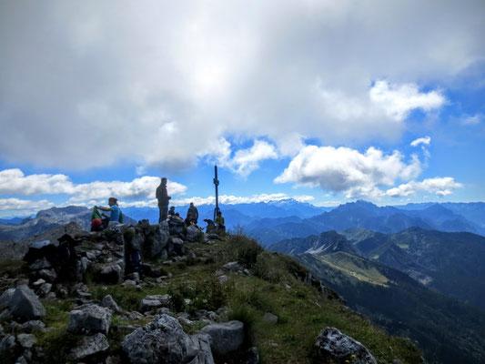 Auf dem Gipfel des Monte Zermula