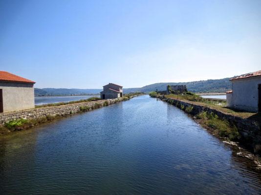 Der Hauptkanal der Salinen von Secovlje - Sicciole 2016