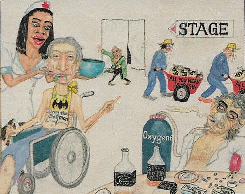 Rolling Stones Comic aus dem Rennbahn-Express im Jahr 1989 !