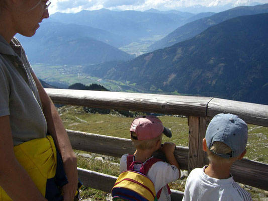 Blick von der Reißeck-Bergstation hinunter ins Mölltal