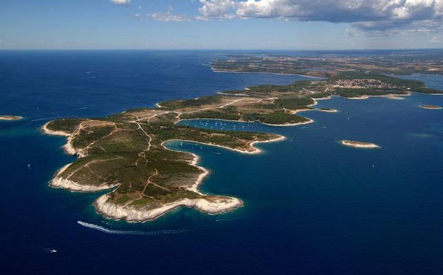 Der südlichste Zipfel Istriens aus der Luft - Photo by MedulinRiviera