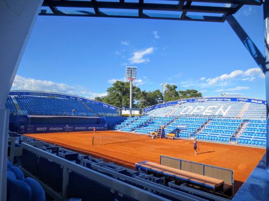 Im ATP-Tennisstadion von Umag