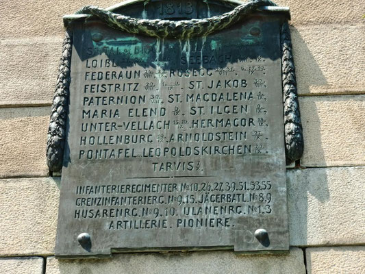 """""""Franzosendenkmal"""" in Tarvis"""