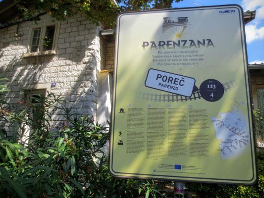 Die Endstation der ehemaligen Parenzana-Bahn in Porec