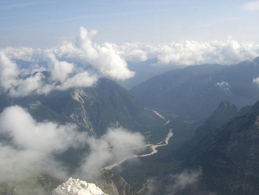 Blick hinunter in das Seisera-Tal