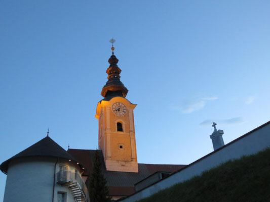 Ankunft in Feldkirchen rechtzeitig vor Sonnenuntergang