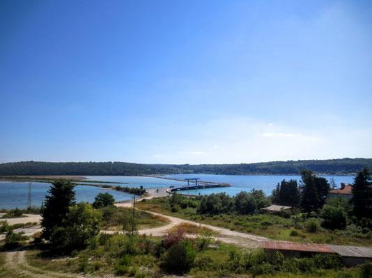 Mirnadelta - hier mündet der längste Fluß Istriens ins Meer
