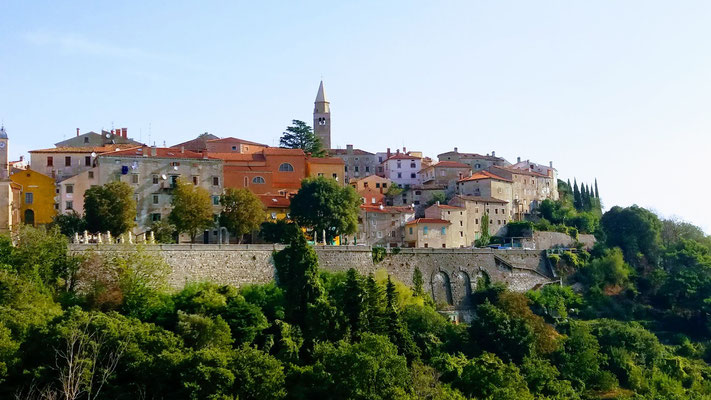 Die mittelalterliche Stadt Labin (italienisch Albona) im Osten von Istrien