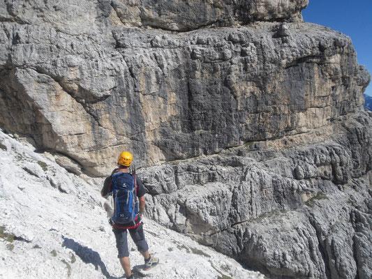 Einstieg in den Klettersteig Anita Goitan