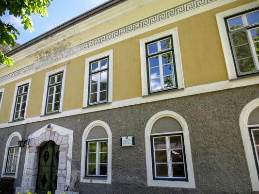Das um 1800 errichtete ehem. Gewerkehaus Theresienhof in Bad Bleiberg