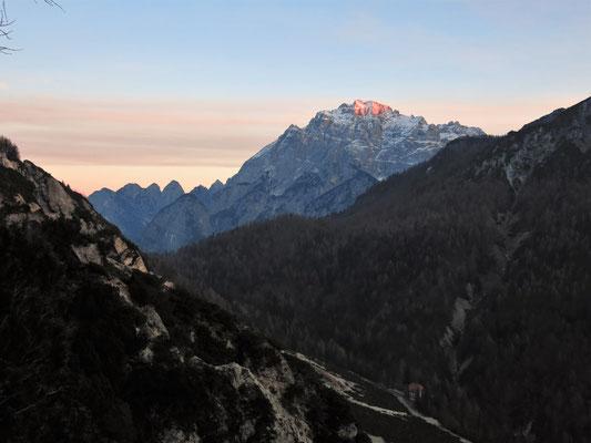 Die letzen Sonnenstrahlen des heutigen Tages auf dem Wischberg