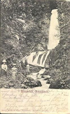 Arnoldstein, Wasserfall - Alte Ansichtskarte um 1910