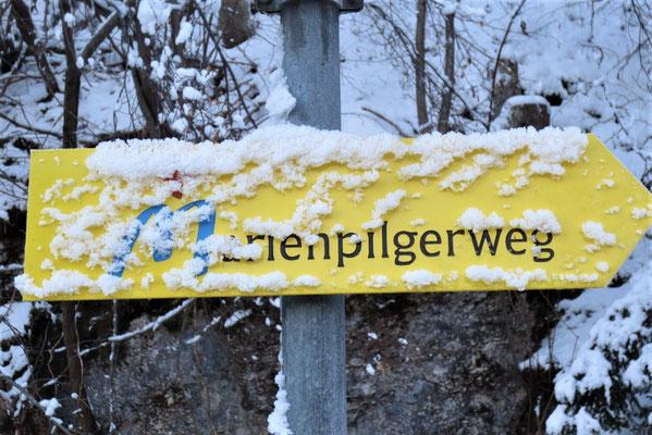 Der Kärntner Marienpilgerweg führt seit 2011 durch die Kreuzkapelle in Arnoldstein