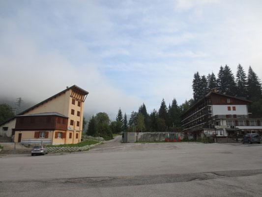 Die alte Lussari-Talstation in Valbruna 2014