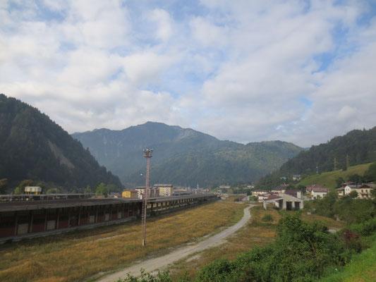 Der aufgelassene Verschiebebahnhof in Pontebba