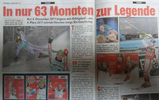 Am 04. März schrieb Marcel Hirscher in Kranjska Gora Ski-Geschichte