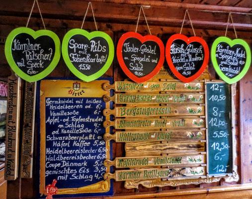 Kulinarische Schmankerln der Osnabrücker Hütte