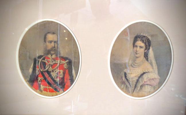 Im K.u.K. Marinemuseum Gallerion in Novigrad - Kaiser Franz Josef und Sissi