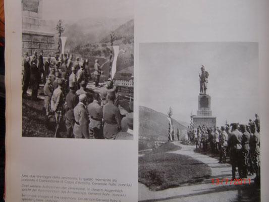 """Armeekommandant General Franz Rohr bei der Einweihungsfeier des """"Franzosendenkmales"""" im Jahr 1909"""