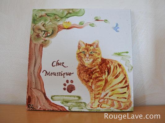 """Plaque de maison personnalisée """"Chez Moustique"""""""