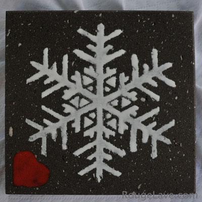 Dessous de plat flocon de neige