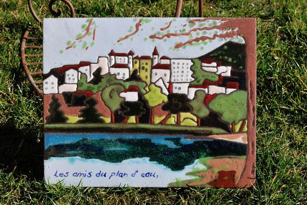 Cournon d' Auvergne vue du lac ...