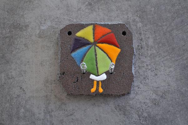 Accroche torchons ou clés 10 x 10 cm / 2 crochets