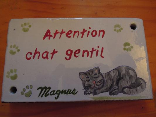 """Plaque personnalisée pour """"Magnus"""""""