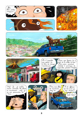 Entre les pages des Volcans, une aventure de Julie et Beau Prince, par Emmanuelle OLGUIN, COBEditions.