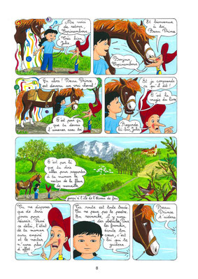 L'île de l'Oiseau de feu, une aventure de Julie et Beau Prince, par Emmanuelle OLGUIN, COBEditions.