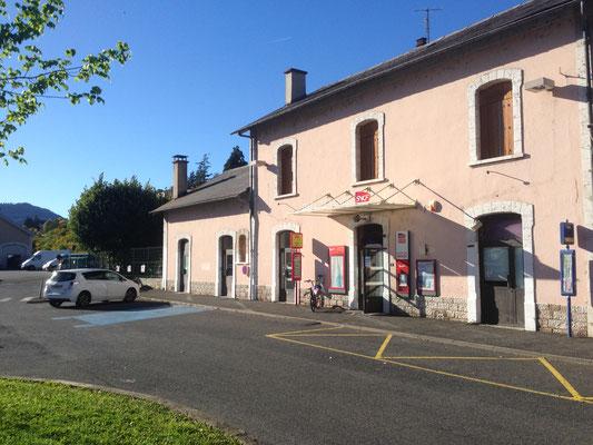 L'entrée de la Gare de Mende