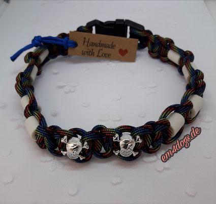 em4dogs.de EM-Keramik Hundehalsband  Regenbogen
