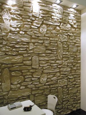 Stein Wandpaneele Rustica blanca