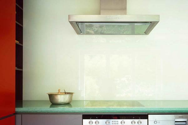 Küche - Arbeitsplatte Glaskeramik Jade poliert