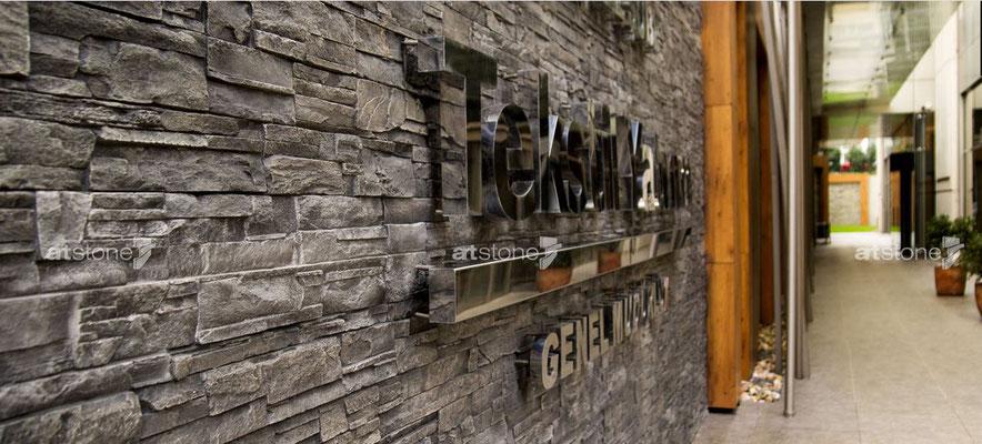 Hotel Steindekor - Lascas anthracite