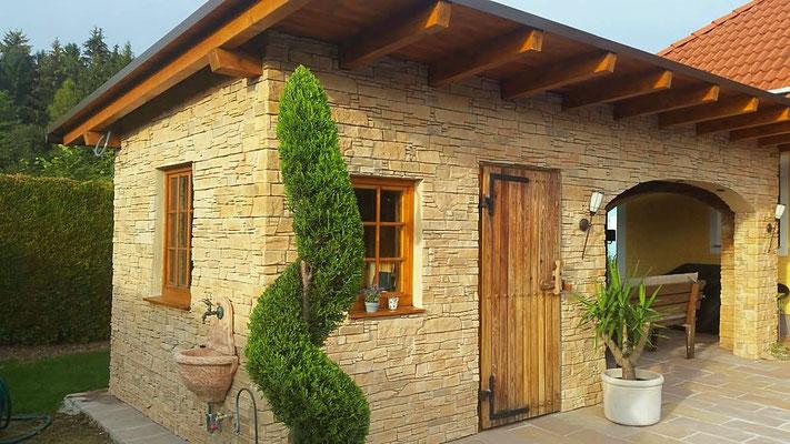 Fassadengestaltung - Verblender Stein Castillo gold - 224