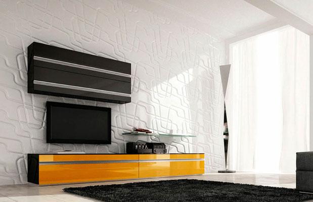 Schlafzimmer - Wandverkleidung mit Akzentpaneele