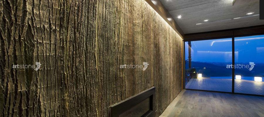 Naturtalent - Baumstamm Wandverkleidung