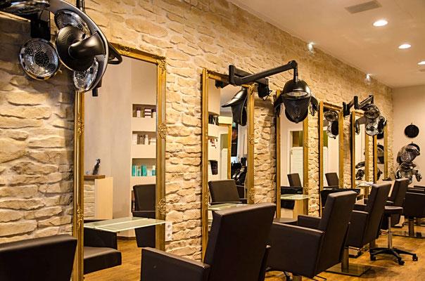 Friseurladen in sonniger Steinoptik - Muro Siciliana Sahahara 302