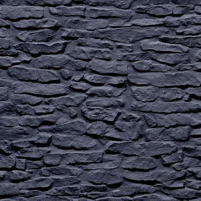 GFK 3D Steindekorpaneele Lajas anthracite