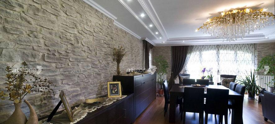 Wohnzimmer Steinoptik - Lajas gris
