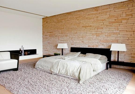 Schlafzimmerwand Steinoptik Thassos cream | 091